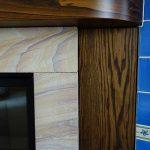 Caminetto, cornice in legno